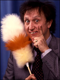 Ken Dodd with his 'tickling stick'