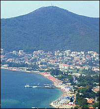 The coastal resort of Budva