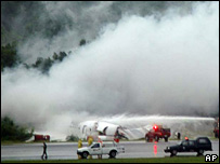 Witnesses saw smoke billowing from the plane