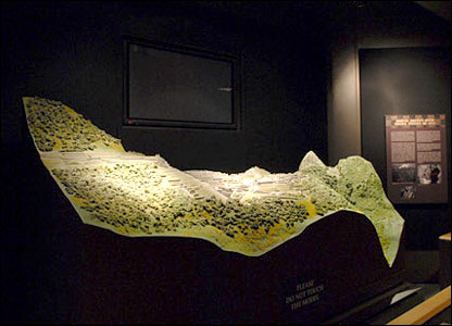 small scale model of Machu Picchu from Yale Peabody Museum's Machu Picchu exhibit (Michael Marsland/Yale University)