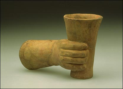"ritual offering vessel or ""paccha"" (image courtesy of Yale Peabody Museum)"