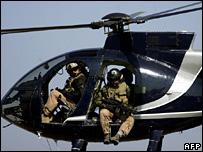 Personal de Blackwater en un helic�ptero (2005)