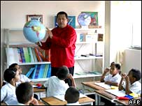 Chavez goes back to school