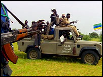 Justice and Equality Movement rebels in Darfur