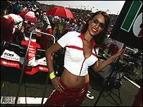 A Formula One grid girl