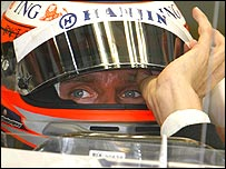 Heikki Kovalainen feels the strain at the Bahrain Grand Prix
