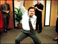 David Brent shows off his disco moves in The Office