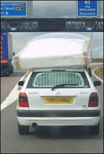 Car on motorway (Pic Courtesy Paul Waller)