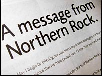 Northern Rock advert