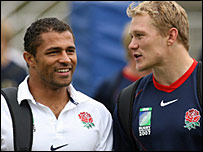 Jason Robinson (left) and Josh Lewsey