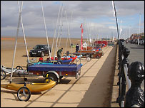 Sand yachts at Hoylake