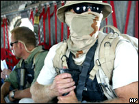 A private security contractor in Iraq (file image)