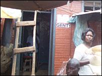 Gents' loo in Kampala