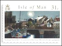 Manx stamp depicting Mr Sayle's artwork - pic courtesy of Isle of Man Government