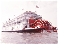 Delta Queen paddle steamer