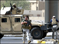 Guardias de Blackwater en Irak en 2005