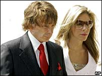 Phil Spector arrives at court with his wife Rachelle Spector on 18 September 2007