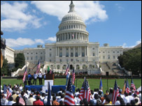 Activists hold immigration rally outside US Capitol