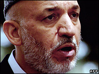 File photograph of Afghan President Hamid Karzai