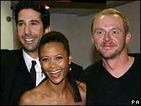 David Schwimmer, Thandie Newton and Simon Pegg