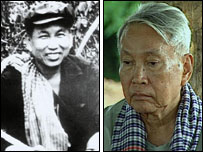 Pol Pot in the 1970s, and shortly before his death in the 1990s