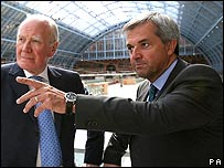 Sir Menzies Campbell, left, with Chris Huhne