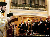 Greek cabinet takes oath of office