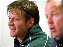 Bobby Skinstad and coach Jake White