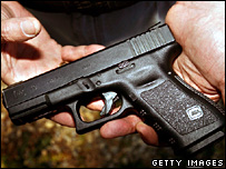 File photograph of a handgun