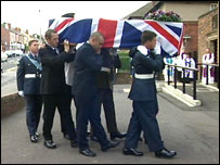 Funeral of Christopher Bridge