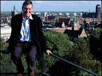 Michael Palin in Gdansk, Poland