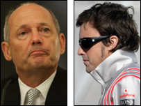 McLaren boss Ron Dennis and driver Fernando Alonso