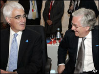 Alistair Darling and Mervyn King