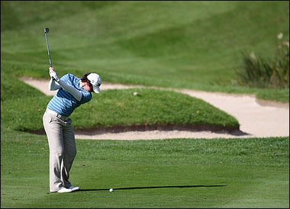 Golf action from England