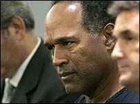 OJ Simpson in court, September 07