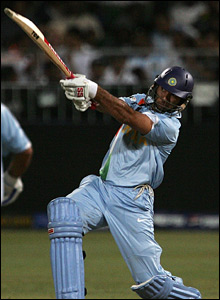 Yuvraj Singh hits his sixth six against England