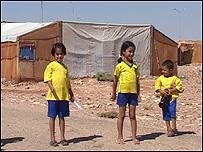Niños del campo de refugiados de Ruweished