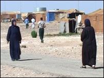 Mujeres en el campo de refugiados de Ruweished