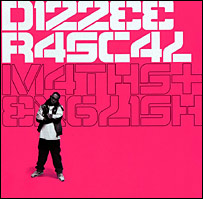 Dizzee Rascal's album cover for Maths and English