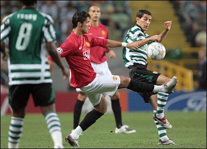 Simon Vukecevic challenges Cristiano Ronaldo