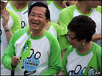 President Chen Shui-bian at march to support Taiwan joining UN - 15/09/2007