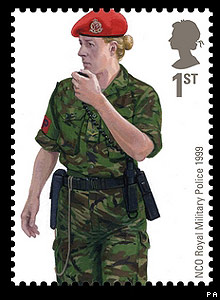 Royal Mail stamp: NCO Royal Military Police 1999