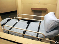 File photograph of a death penalty chamber in the US