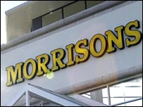 Morrisons store sign