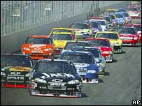 Nascar Sylvania 300 racing on 16 September