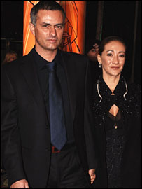Mourinho and wife Matilde