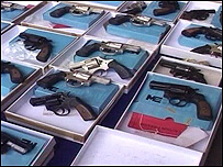Some of the guns which were seized