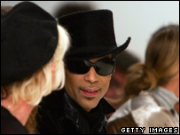 Prince at Matthew Williamson's catwalk show