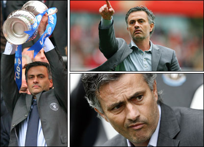 Montage of Jose Mourinho photos