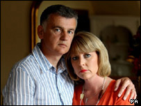 Gary and Joanne Coombs following their daughter's disappearance